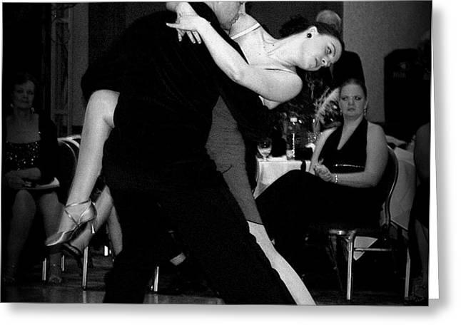 Dance Room Drama Greeting Card by Lori Seaman