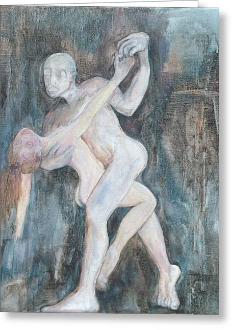 Expressive Sculptures Greeting Cards - Dance with Death Greeting Card by Michele D B