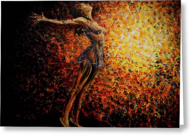 On Stage Greeting Cards - Dancer 03 Greeting Card by Nik Helbig