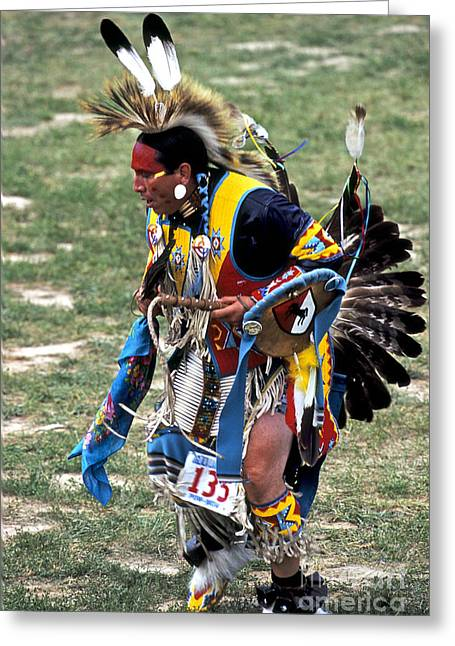 Oglala Greeting Cards - Dancer 135 Greeting Card by Chris  Brewington Photography LLC