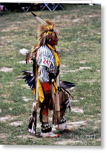 Oglala Greeting Cards - Dancer 247 Greeting Card by Chris  Brewington Photography LLC