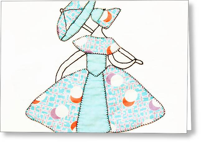Quilt Blocks Greeting Cards - Dancer and Parasol 1 Greeting Card by Marilyn Hunt