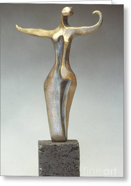 Abstracted Ceramics Greeting Cards - Dancer Greeting Card by Judith Birtman