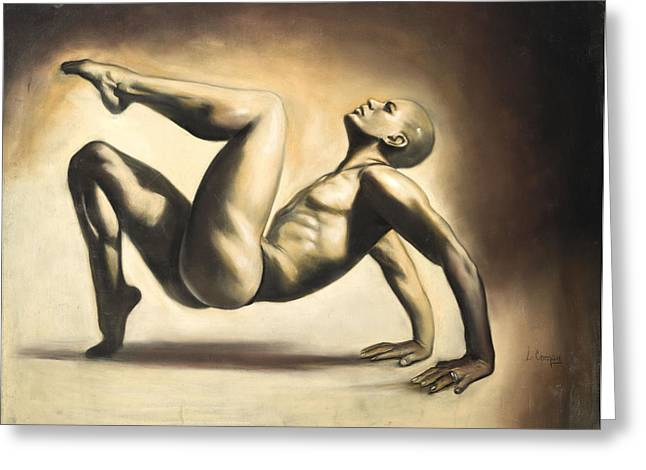 Figure Study Pastels Greeting Cards - Dancer Greeting Card by L Cooper