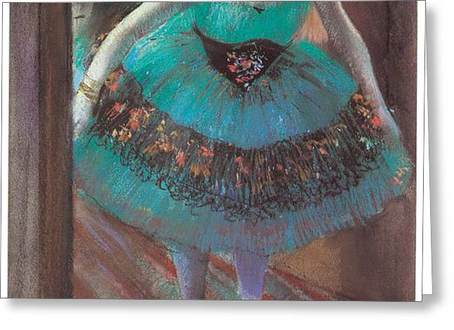Dancer leaving Her Dressing Room Greeting Card by Edgar Degas