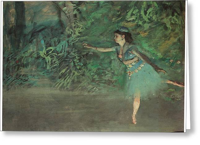 Ballet Dancers Greeting Cards - Dancer on the Stage Greeting Card by Edgar Degas