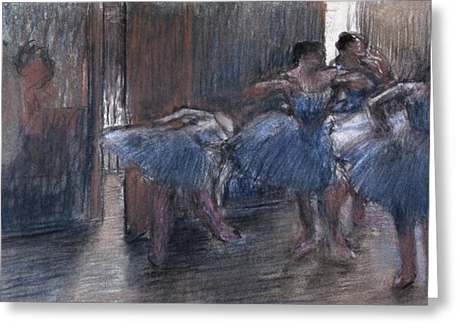 Lessons Greeting Cards - Dancers Greeting Card by Edgar Degas