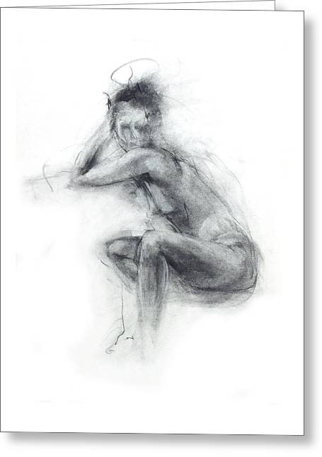 Ballet Dancers Drawings Greeting Cards - Dancers Gaze Greeting Card by Christopher Williams