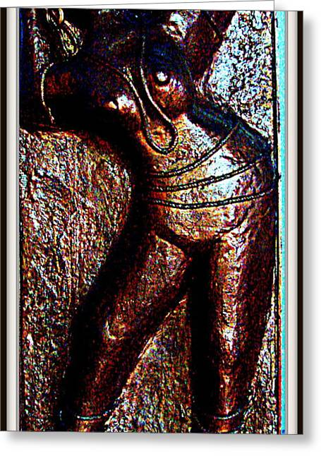 Plaster Of Paris Greeting Cards - Dancing Girl Greeting Card by Anand Swaroop Manchiraju