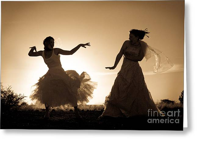 Dancing Girl Greeting Cards - Dancing Girls Greeting Card by Scott Sawyer