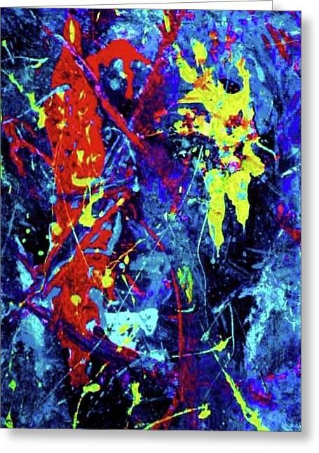 Robert Daniels Paintings Greeting Cards - Dancing In Space Greeting Card by Robert Daniels