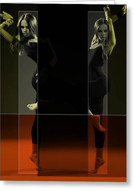 Couple Greeting Cards - Dancing Mirrors Greeting Card by Naxart Studio