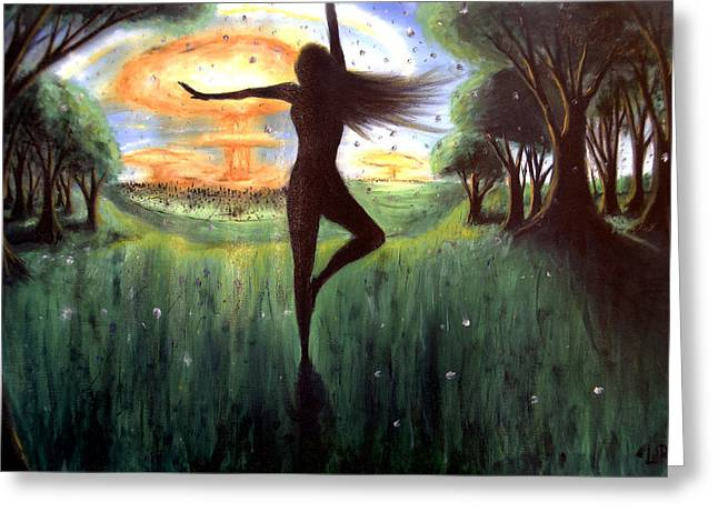Levi Greeting Cards - Dancing to a Nuclear Sunrise Greeting Card by Levi Rosen