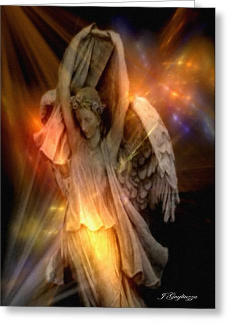 Seraphim Angel Greeting Cards - Dancing Two Greeting Card by Jean Gugliuzza