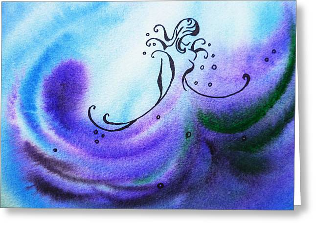 Vortex Greeting Cards - Dancing Water II Greeting Card by Irina Sztukowski