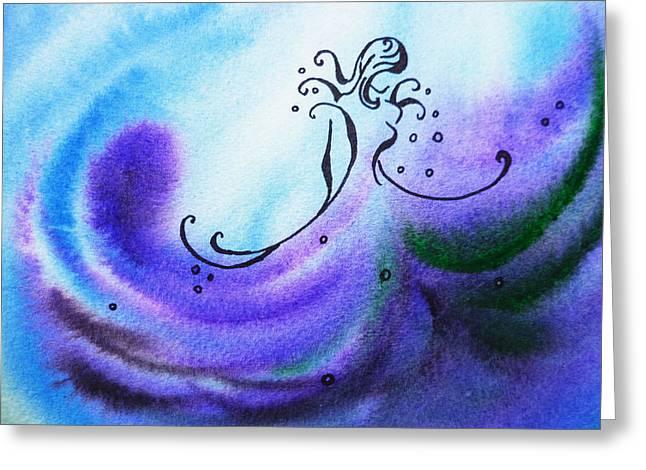 Dancing Water II Greeting Card by Irina Sztukowski