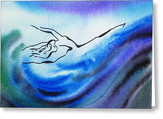 Vortex Greeting Cards - Dancing Water III Greeting Card by Irina Sztukowski