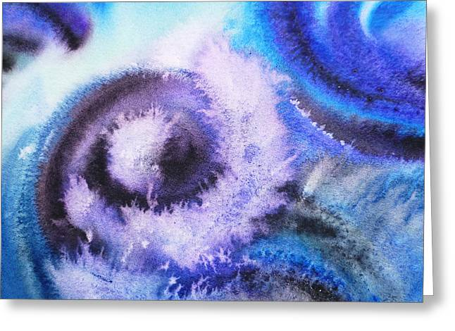 Vortex Greeting Cards - Dancing Water IV Greeting Card by Irina Sztukowski