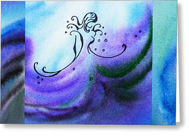 Abstract Waves Greeting Cards - Dancing Water VI Greeting Card by Irina Sztukowski