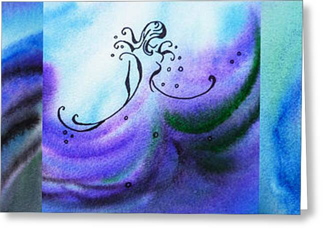 Abstractions Greeting Cards - Dancing Water VI Greeting Card by Irina Sztukowski