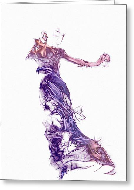 Invisible Greeting Cards - Dancing with a Stranger Greeting Card by Stefan Kuhn