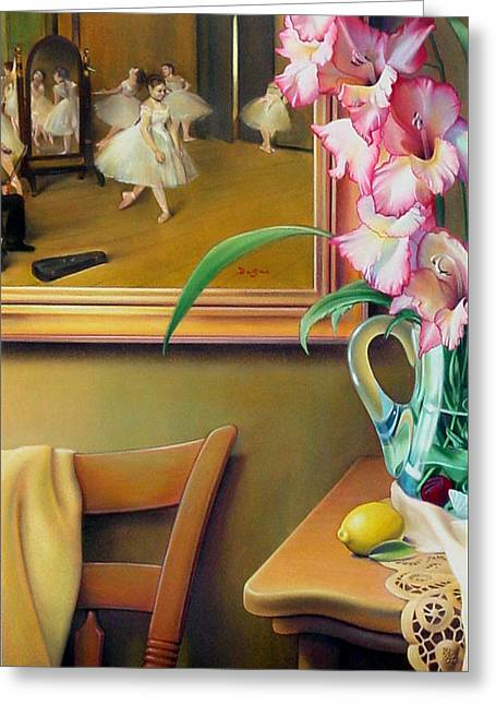 Glass Pastels Greeting Cards - Dancing with Glads Greeting Card by Patrick Anthony Pierson