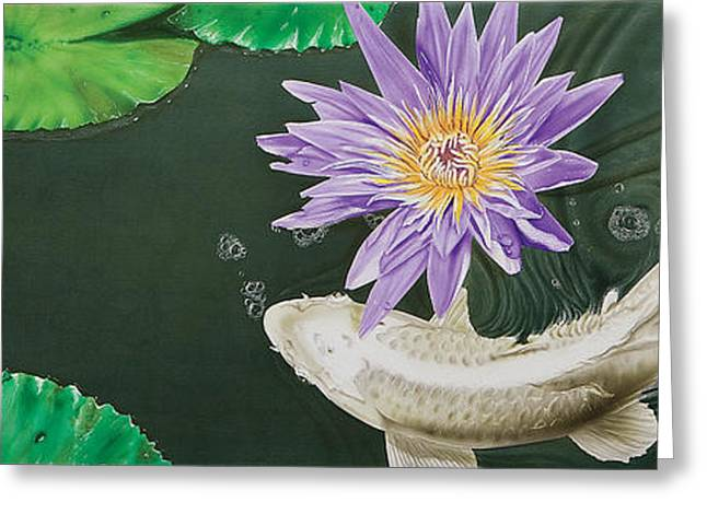 Water Lilly Greeting Cards - Dancing With Lilly Greeting Card by Dan Menta