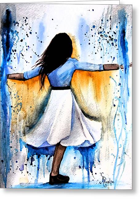 Dancing With My Soul Mate Greeting Card by Andrea Realpe