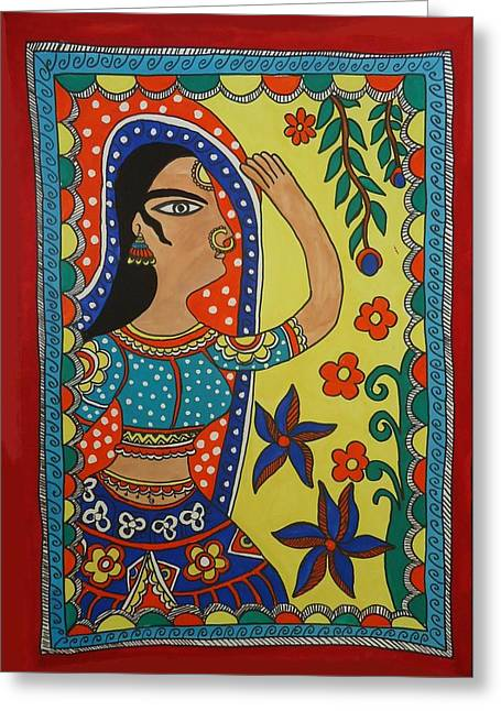 Shakhenabat Kasana Greeting Cards - Dancing Woman Greeting Card by Shakhenabat Kasana