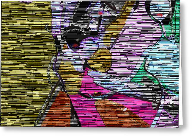 Abstract Digital Paintings Greeting Cards - Dancing women Greeting Card by Nedunseralathan R