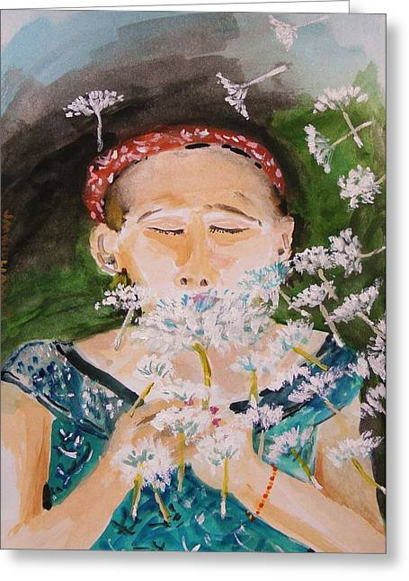 Dandelion Burst Greeting Card by John Williams
