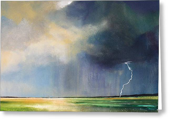 Storm Prints Paintings Greeting Cards - Dandelion Fields Greeting Card by Toni Grote