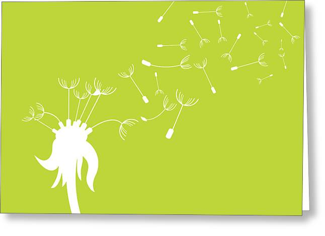 Hand Drawn Greeting Cards - Dandelion Greeting Card by HD Connelly
