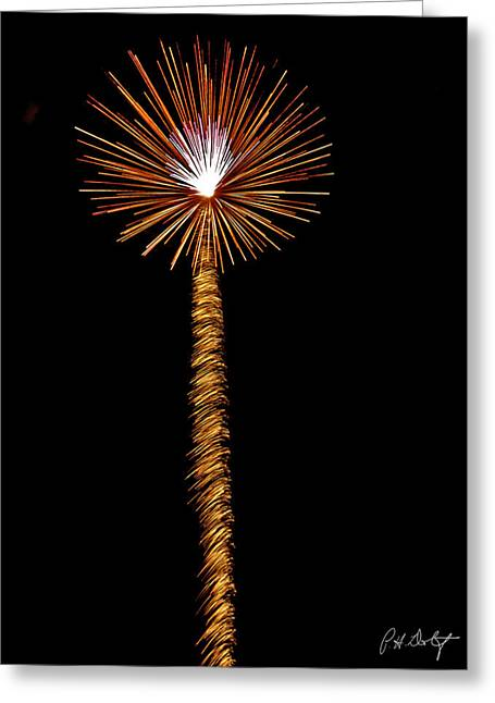 July 4th Greeting Cards - Dandelion Greeting Card by Phill  Doherty