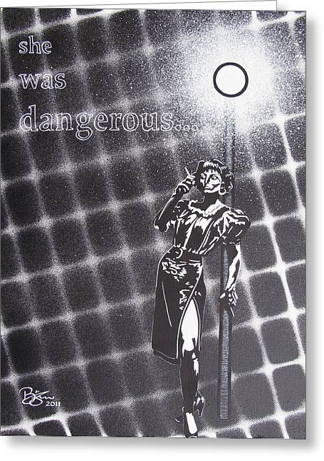 Streetlight Greeting Cards - Dangerous Greeting Card by Lance Bifoss