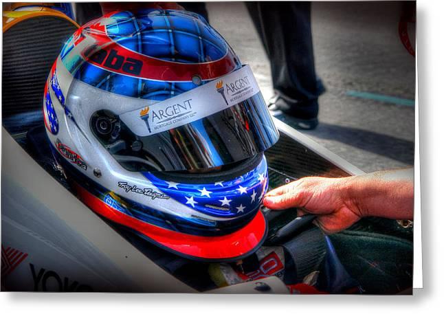 Indy Car Greeting Cards - Danica Greeting Card by Craig Incardone