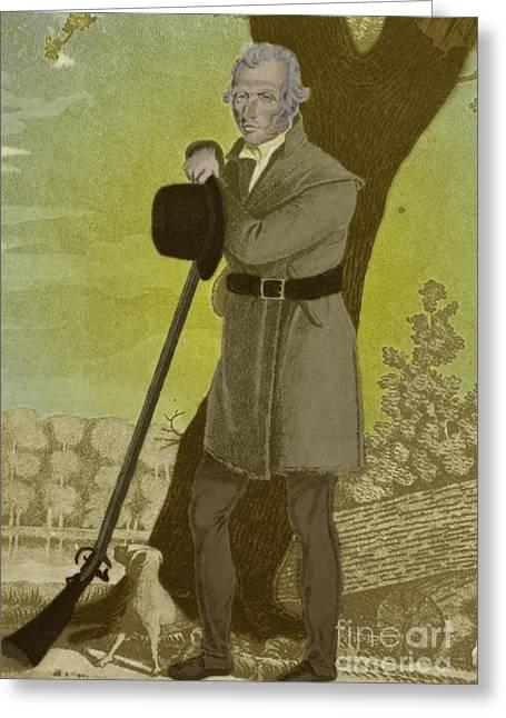 Western Kentucky Greeting Cards - Daniel Boone, American Folk Hero Greeting Card by Photo Researchers