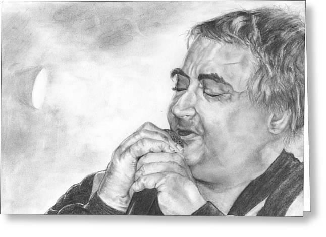 Daniel Johnston Greeting Card by Avery Wilson