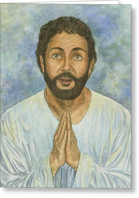 Faith Pastels Greeting Cards - Daniel Praying More Greeting Card by Robert Casilla