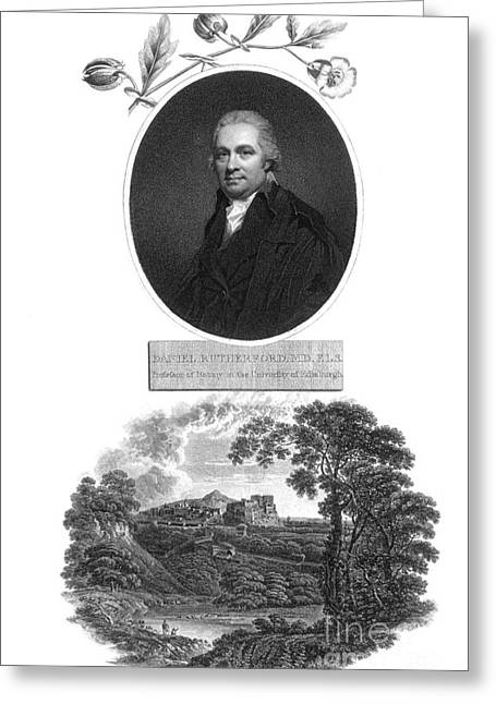 Daniel Rutherford, Scottish Chemist Greeting Card by Science Source
