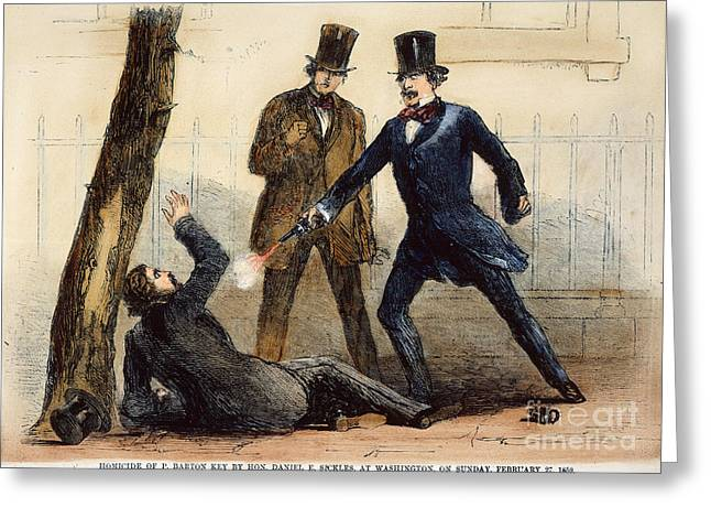 Adultery Greeting Cards - Daniel Sickles (1825-1914) Greeting Card by Granger