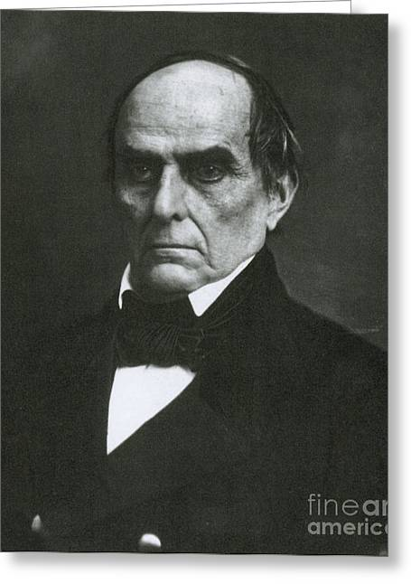 American Politician Photographs Greeting Cards - Daniel Webster, Kentucky Senator Greeting Card by Photo Researchers