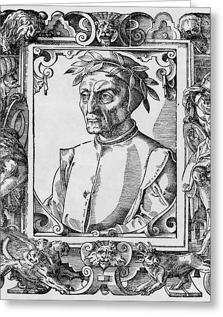 1300s Greeting Cards - Dante Alighieri, Italian Poet Greeting Card by Middle Temple Library