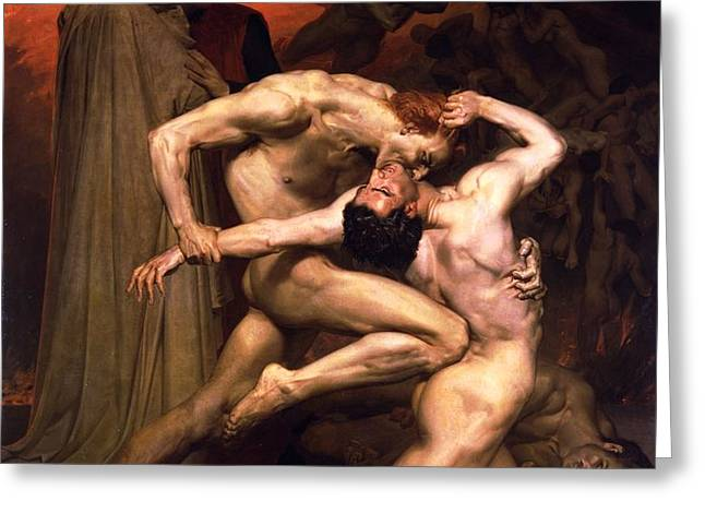 Dante and Virgil in Hell Greeting Card by PG REPRODUCTIONS