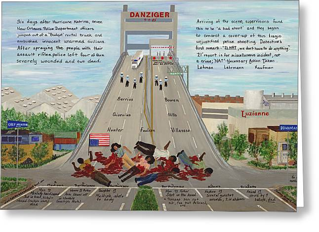 Evacuee Greeting Cards - Danziger The Massacre Greeting Card by Beverly Kimble Davis