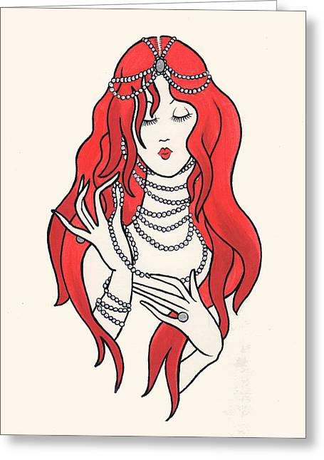 Erte Greeting Cards - Daphne Greeting Card by Lauren Busiere