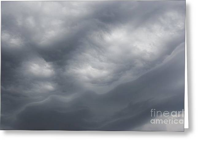 Nimbus Greeting Cards - Dard Sky Before Storm Greeting Card by Michal Boubin
