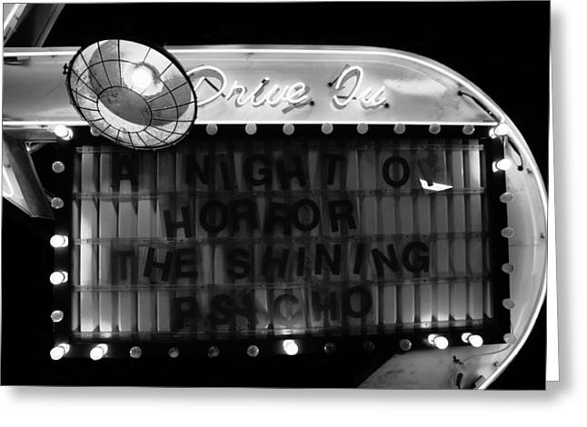Old Drive In Greeting Cards - Dare to Drive In Greeting Card by David Lee Thompson