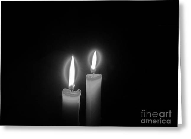 Candle Lit Greeting Cards - Dark and Silent Greeting Card by Reb Frost
