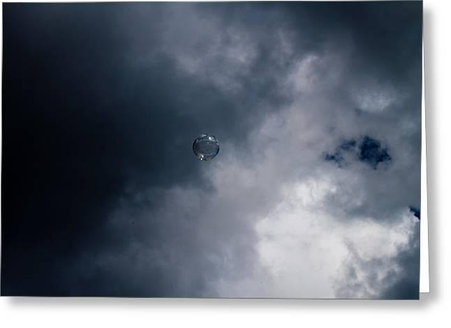 Robert Hellstrom Greeting Cards - Dark bubble Greeting Card by Robert Hellstrom